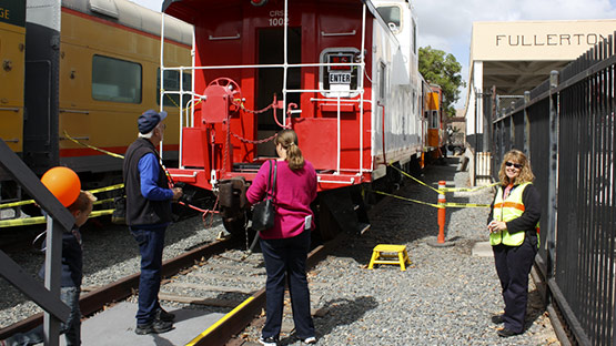 Caboose tours at Railroad Days